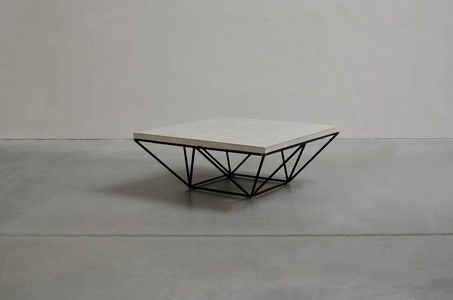coffee table cement/metal