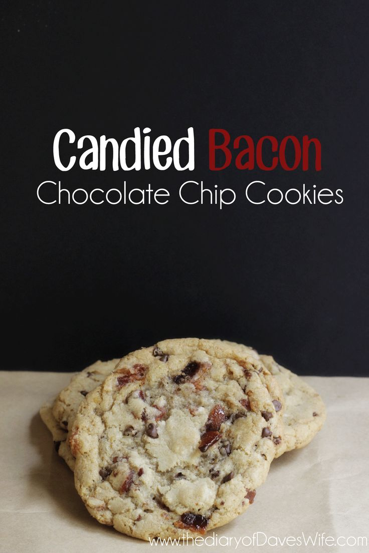 Bacon chocolate chip cookies, Candied bacon and Bacon chocolate on ...