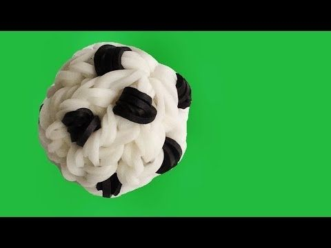 Rainbow Loom SOCCER BALL 3D Charm. Designed and loomed by DIYMommy. Click photo for YouTube tutorial. 06/10/14.