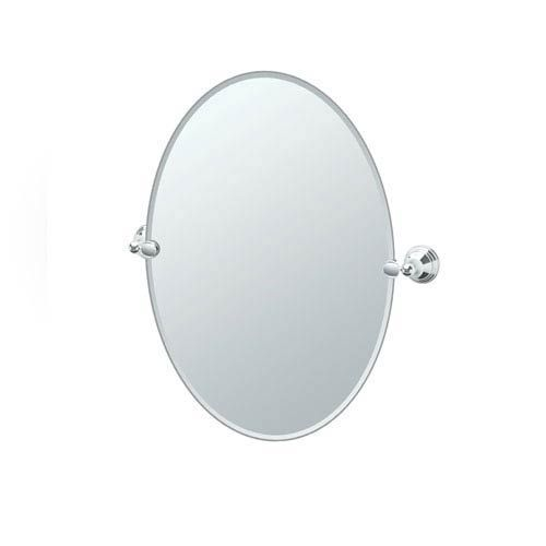 Charlotte Chrome Tilting Oval Mirror Gatco Wall Mirror Mirrors Home Decor 23""