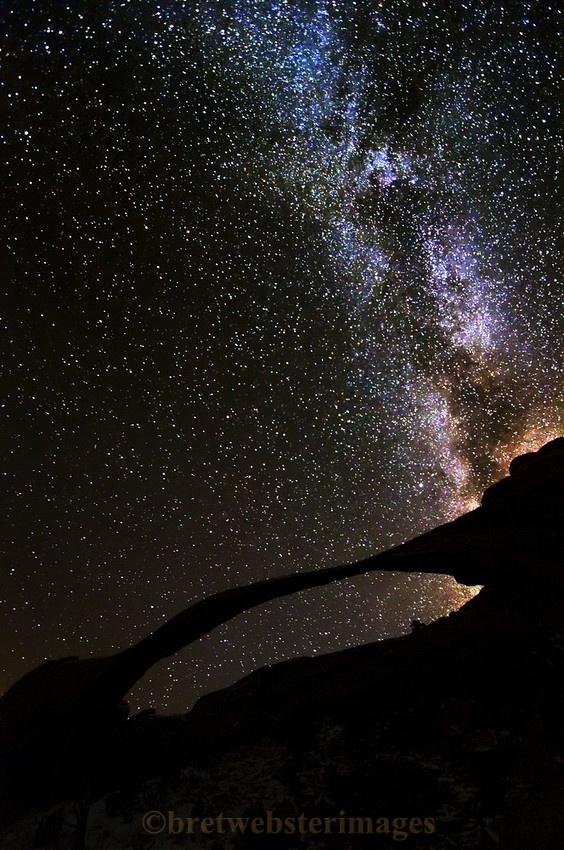 Landscape Arch & the Milky Way - Bret Webster