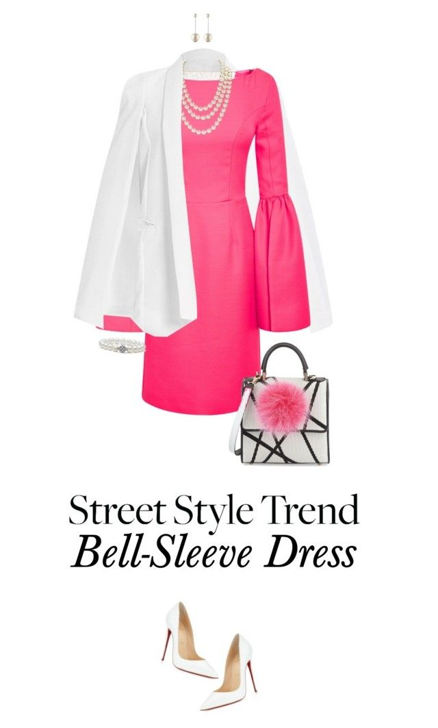 """New Trend: Bell-Sleeve Dresses"" by ittie-kittie ❤ liked on Polyvore featuring Honor, Chanel, Les Petits Joueurs, Christian Louboutin, Lagos and bellsleevedress"
