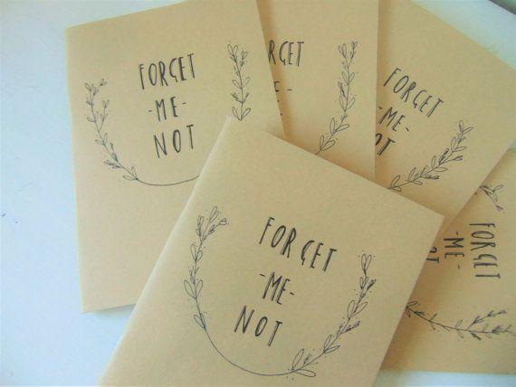 Notebook by Vivi Lake. Https://www.etsy.com/uk/listing/482579014/forget-me-not-kraft-sketchbook-notebook