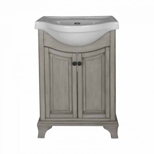 Photographic Gallery Corsicana Single Sink Bathroom Vanity Antique Gray by Foremost