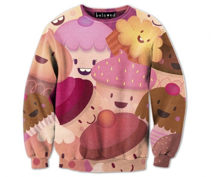 Piktorama - Happy Cupcakes Sweatshirt - Beloved