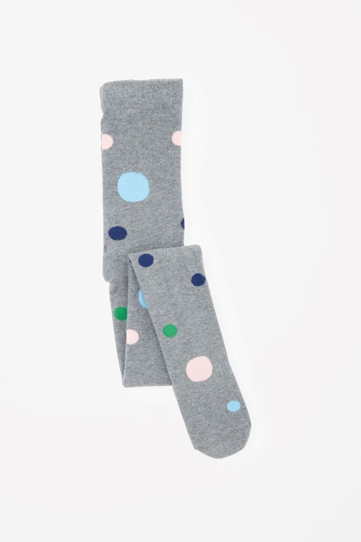 COS Leggings with dots in Grey