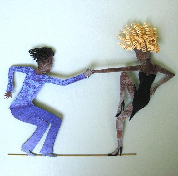 Jazz Dancers Wall Hanging Metal Wall by frivoloustendencies, $325.00