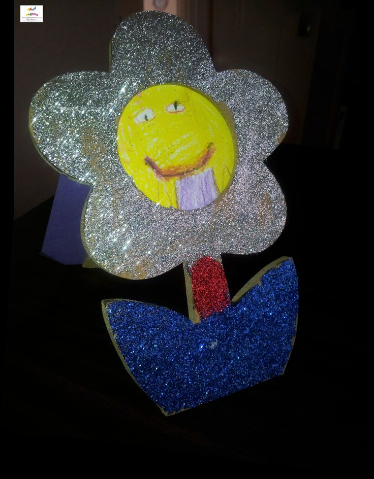 3D Flower frame beautifully rendered in all its' sparkliness !