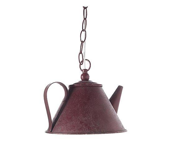 Lampada a sospensione a forma di teiera in metallo - 19x22 cm