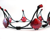 The Queen of Diamonds Black & Red Gothic Tiara – Made to Order