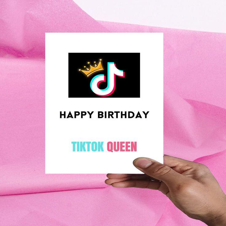Tiktok Printable Birthday Card Tiktok Queen Printable Card Etsy Birthday Card Printable Printable Cards Birthday Cards