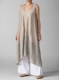 Linen Knit Long Tunic