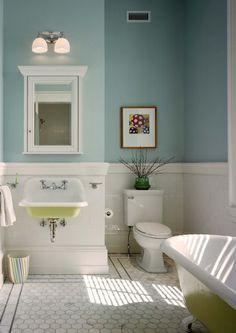 Bathroom paint color: Mediterranean Sky