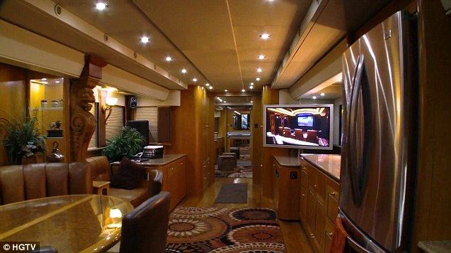 Life of luxury: Will Smith's $2million trailer features 14 televisions and thousands of dollars worth of technology and fixtures and fitting...