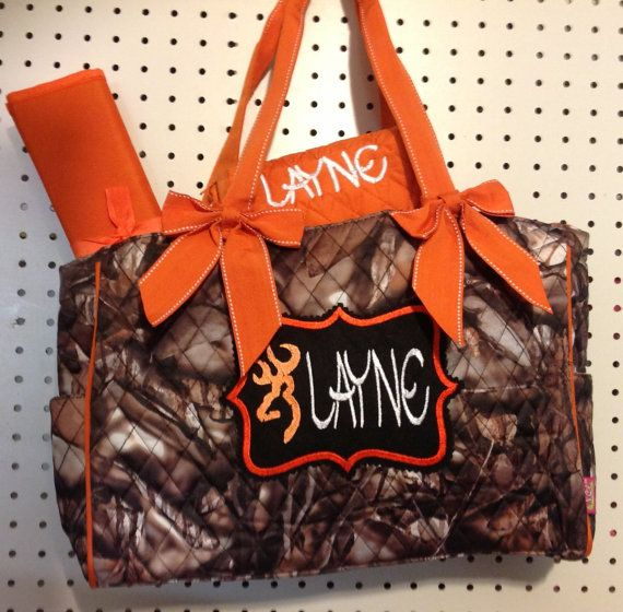 Mossy Oak Camo Personalized Diaper Bags on Etsy, $48.00