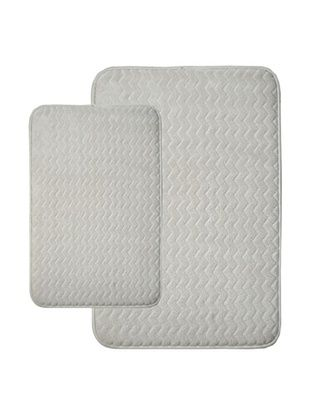 70% OFF Memory Foam Bath Mat Set, Ivory