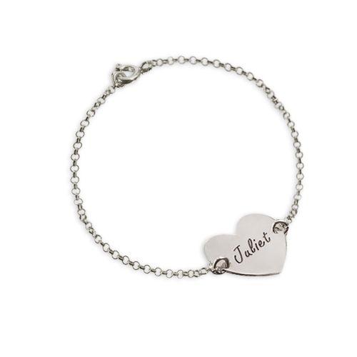 Echt zilveren koppels harten armband