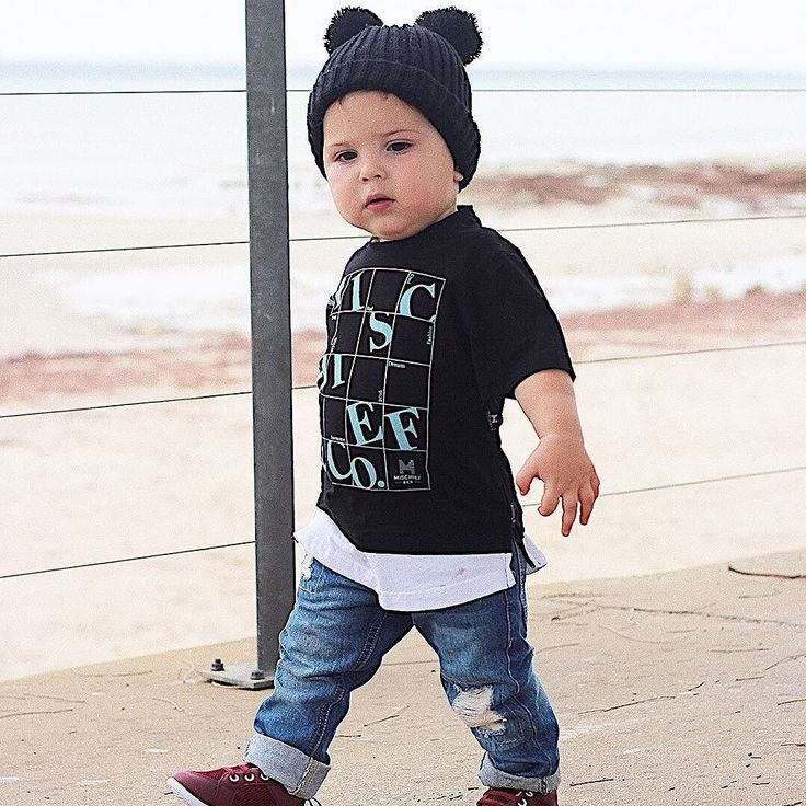This awesome  Gorgeous Harry @life.with.harry wears  Mischief & Co signature tee  In store now  http://ift.tt/1TgQUwL #mischiefandco #autumnfashion #autumnstyle #cutenessoverload