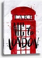 Постер Лондон, телефонная будка
