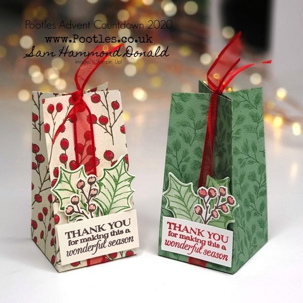Pootles Advent Countdown 2020 How To Make A Festive Table Gift Bag In 2020 Christmas Treats Holders Christmas Treat Bags Gifts