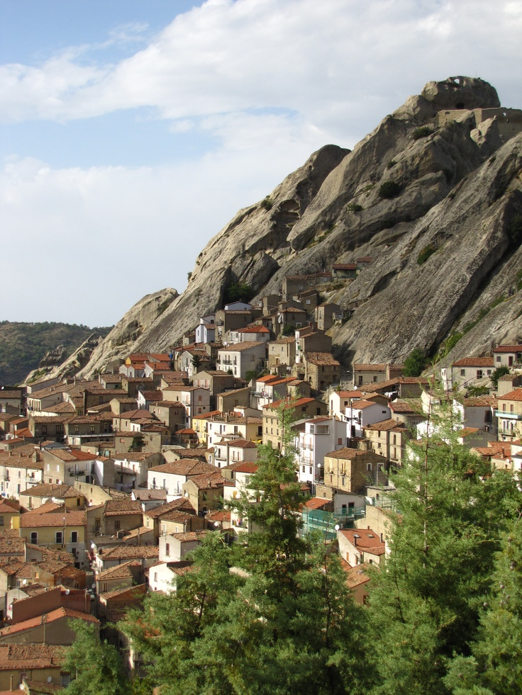 Pietrapertosa, a beautiful village on top of a mountain. Basilicata, Italy.