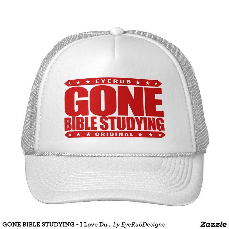GONE BIBLE STUDYING - I Love Daily Gospel Reading Trucker Hat, Crimson Red Design - #pope #vatican #holyfather #bibleverses #scripture #religion #god #bible #jesus #jesuschrist #catholic #christian #church #prayer #faith #biblestudy
