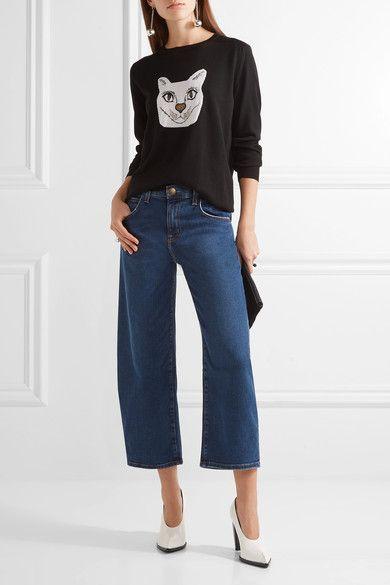 Blue stretch-denim Button and concealed zip fastening at front 99% cotton, 1% elastane Machine wash Designer wash: Ditch