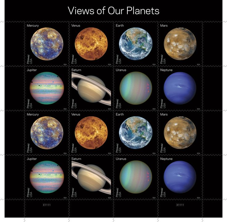 "Coming next week to a post office near you: new ""Views of Our Planets"" Forever stamps featuring iconic images of the planets in our solar system, including the well-known ""Blue Marble"" photo of Earth."