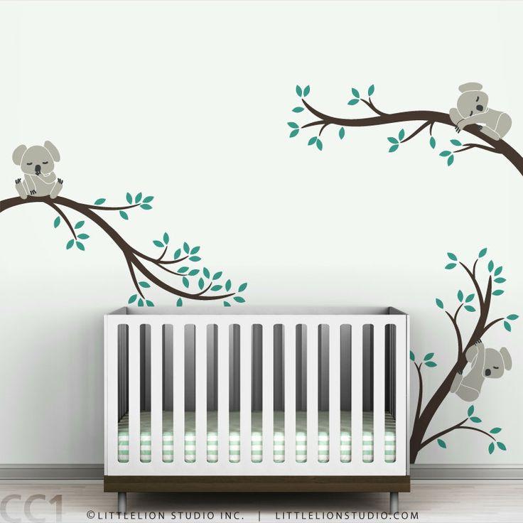 Nursery Wall Decal Koala Tree Branches.