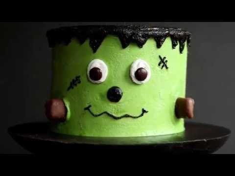 Frankenstein Layer Cake - i am baker