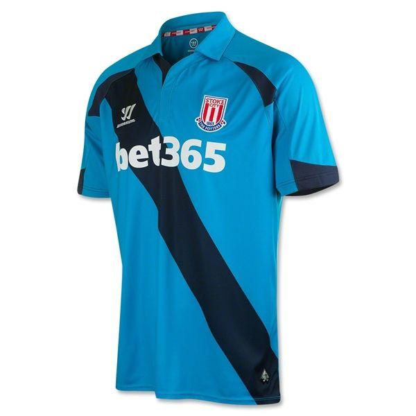 Stoke City 14/15 Away Soccer Jersey #BritishPremierLeague #Soccer #Apparel  #Athletes