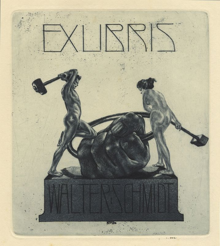 Bookplate by Alois Kolb for Walter Schmidt, ????