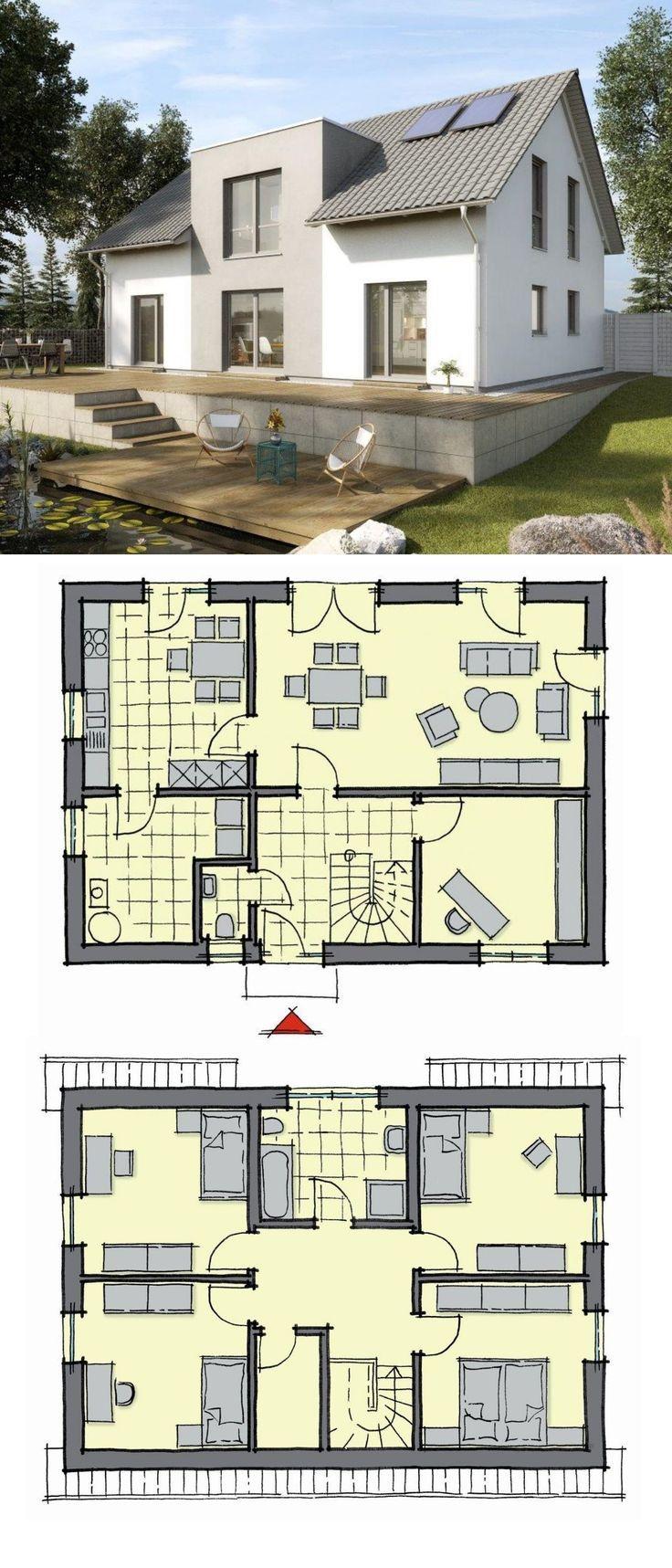 Einfamilienhaus Neubau modern Grundriss 150 qm, 6 Zimmer
