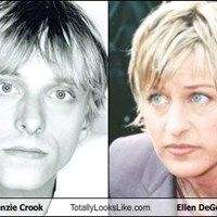 Mackenzie Crook Totally Looks Like Ellen DeGeneres