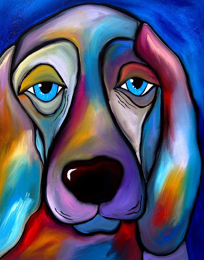 I picked this art because I thought it was a sad dog that has sad dark colors that makes you sad.But there is nothing that can helps make the dog happy This art makes you want to think that something happend to the dog? What happened ?  By. Gracie