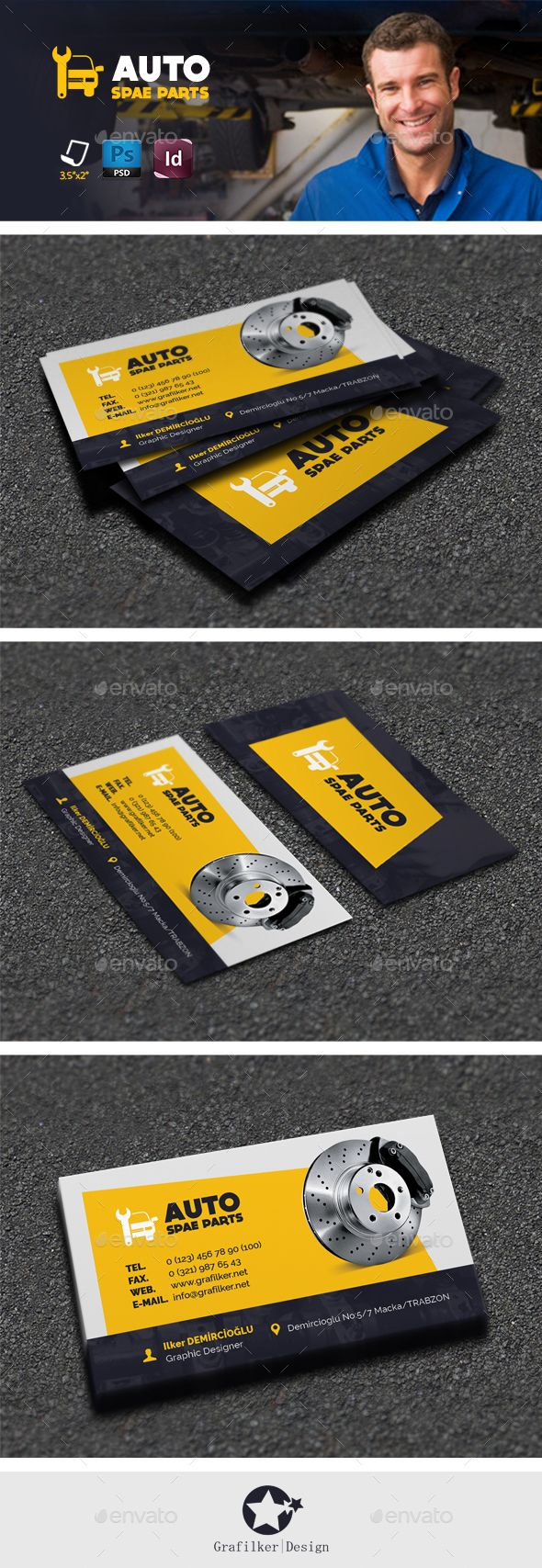 Auto Spare Part Business Card Template PSD #design #visitcard Download: http://graphicriver.net/item/auto-spare-part-business-card-templates/13113861?ref=ksioks