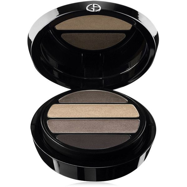 Giorgio Armani Eyes To Kill Shimmer Eye Palette ($60) ❤ liked on Polyvore featuring beauty products, makeup, eye makeup, eyeshadow, palette eyeshadow, giorgio armani, giorgio armani eyeshadow and giorgio armani eye shadow