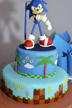 Bolos decorados do Sonic - http://www.boloaniversario.com/bolos-decorados-do-sonic/