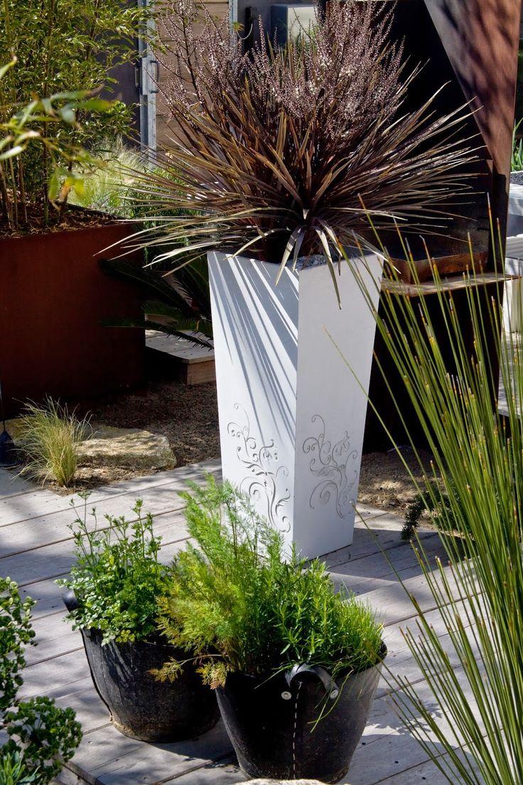 Jardinières IMAGE'IN: Be Flower - Bac à plantes en béton ultra-performan...