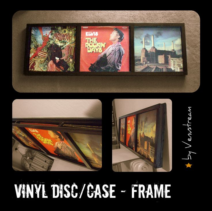 Case / Frame for Vinyl Disks..!! ( Decoration swappable at any time ) Dimensions : 34 x102cm