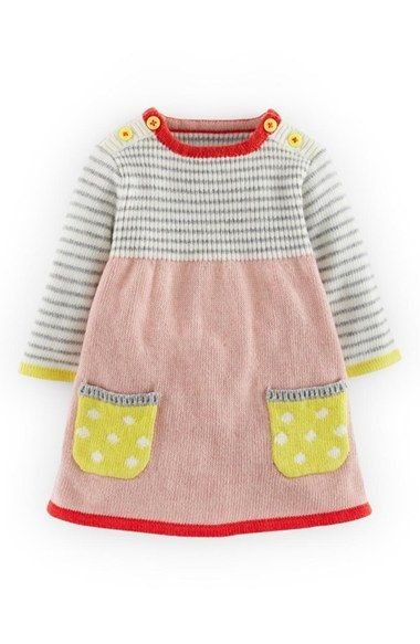Mini Boden Sweet Knit Sweater Dress (Baby Girls) available at #Nordstrom