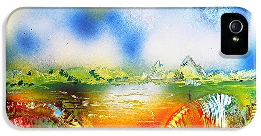 Rainbowland IPhone 5 / 5s Case Printed with Fine Art spray painting image Rainbowland by Nandor Molnar (When you visit the Shop, change the orientation, background color and image size as you wish)