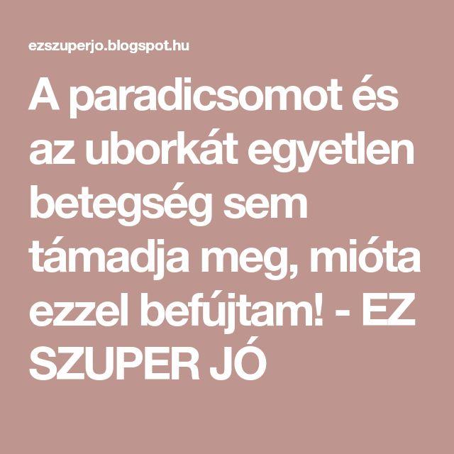 A paradicsomot és az uborkát egyetlen betegség sem támadja meg, mióta ezzel befújtam! - EZ SZUPER JÓ