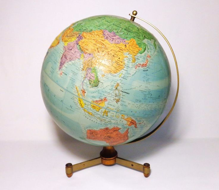 22 best antique maps vintage globes images on pinterest vintage 12 repogle raised topographic world globe wbrass walnut tripod stand gumiabroncs Image collections