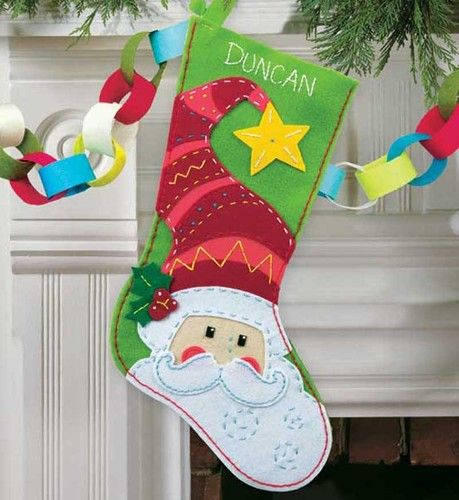 Make stockings out of construction paper. Use glitter and cut outs for decorating
