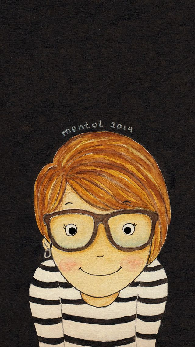 self portrait :) illustrated by : mentol art freelance illustrator of cute cartoon mentolart.com