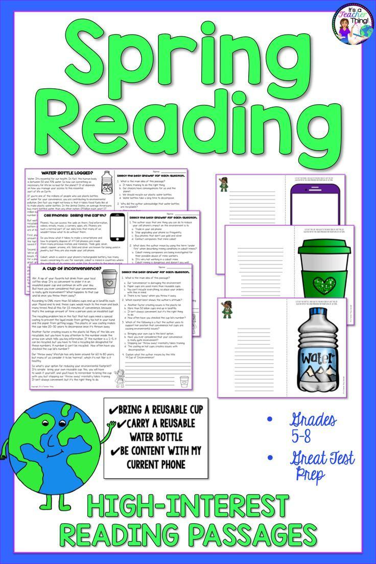 - Reading Comprehension Passages And Questions Spring In 2020