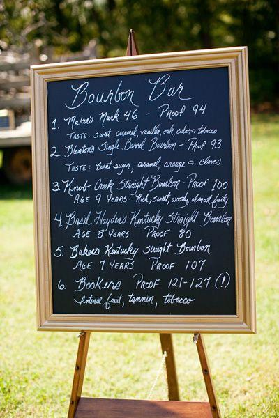 bourbon bar signage! | Courtney Dox #wedding