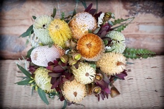 My gorgeous Australian Natives wedding bouquet by Penny :)