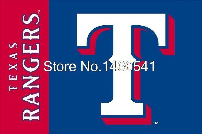 Техасские Рейнджеры Товарный Знак Флаг 3ft x 5ft Полиэстер MLB Техас Рейнджерс Баннер Летающий Размер № 4 144*96 см QingQing Флаг